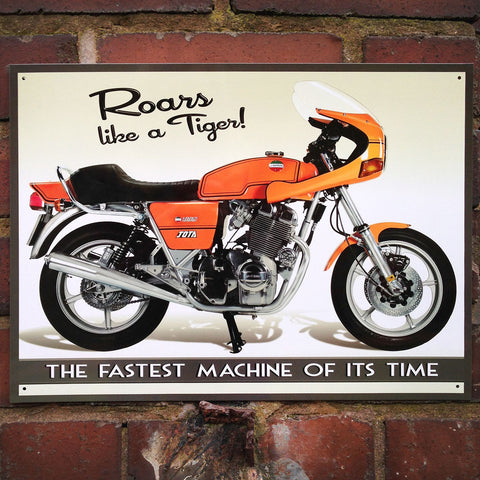 Motorbike Metal Sign - Classic Laverda Jota 1000 - The Metal Sign Store