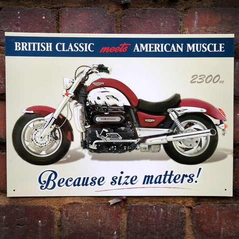 Motorbike Metal Sign - Classic Triumph Rocket III - The Metal Sign Store