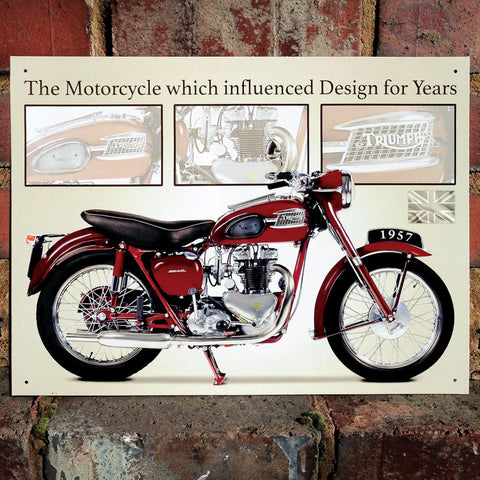 Motorbike Metal Sign - Classic Triumph Speed Twin - The Metal Sign Store