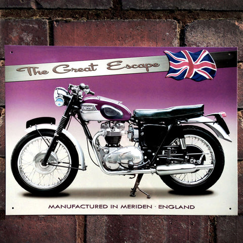 Motorbike Metal Sign - Classic Triumph TR6 - The Metal Sign Store