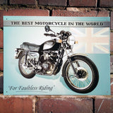 Motorbike Metal Sign - Classic Triumph Thunderbird - The Metal Sign Store