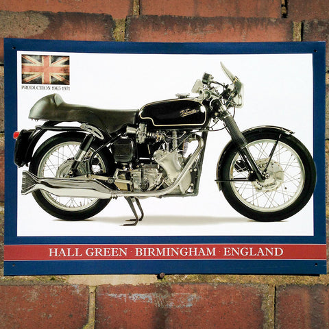 Motorbike Metal Sign - Classic Velocette Venom Thruxton - The Metal Sign Store