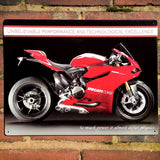 Motorbike Metal Sign - Ducati 1199 Panigale R - The Metal Sign Store