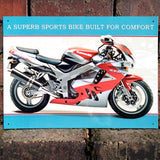 Motorbike Metal Sign - Kawasaki Ninja ZX-9R - The Metal Sign Store
