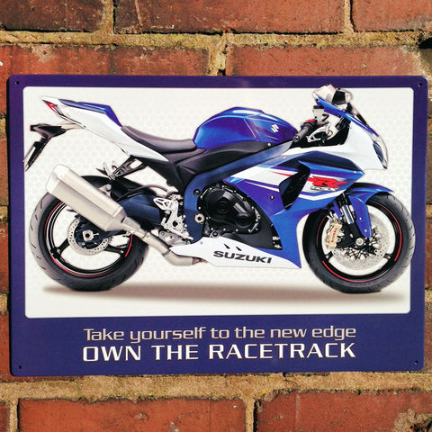 Motorbike Metal Sign - Suzuki GSXR1000 - The Metal Sign Store