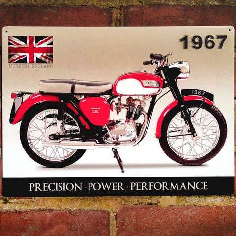 Motorbike Metal Sign - Classic Triumph Tiger Cub 1967 - The Metal Sign Store
