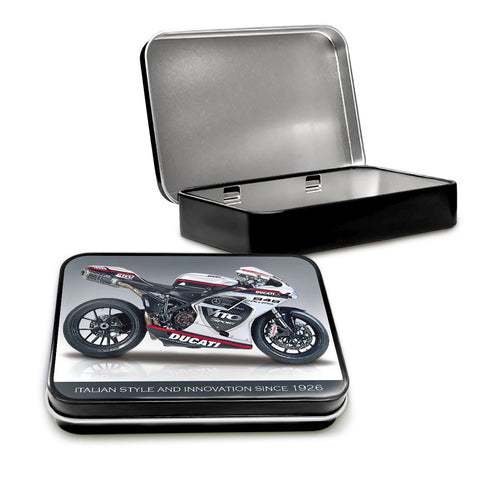 Motorbike Metal Tin - Ducati 848 Evo - The Metal Sign Store