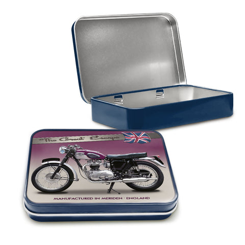 Motorbike Metal Tin - Triumph TR6 Trophy - The Metal Sign Store