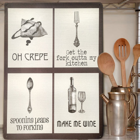 Naughty Puns Kitchen Mix Metal Sign - The Metal Sign Store