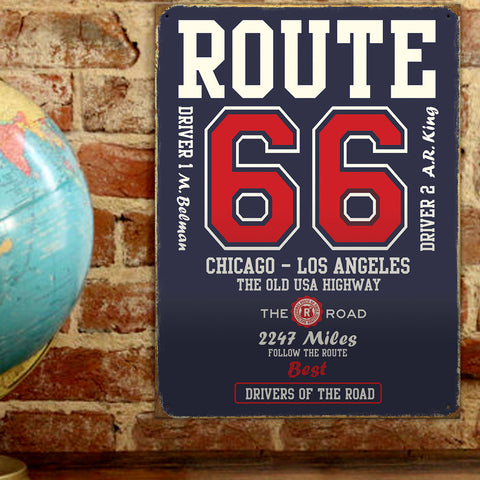 Route 66 Metal Sign - The Old USA Highway - The Metal Sign Store