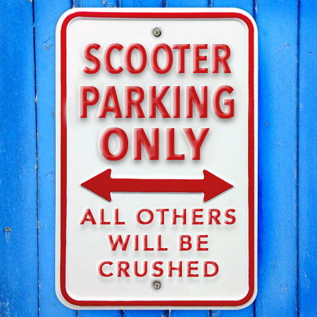 Scooter Parking Only Heavy Duty Metal Sign - The Metal Sign Store