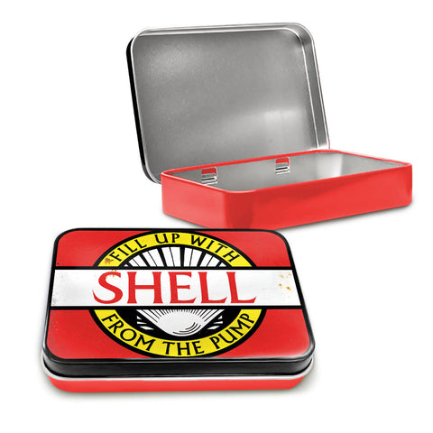 Shell Metal Tin - Fill Up With Shell From The Pump - The Metal Sign Store