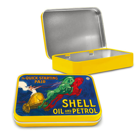 Shell Metal Tin - The Quick Starting Pair Chariot - The Metal Sign Store