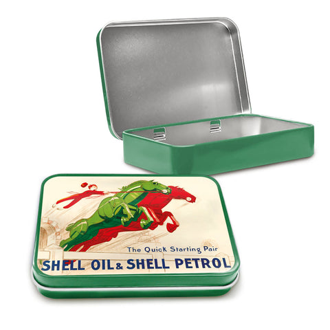 Shell Metal Tin - The Quick Starting Pair Mechanical Horses - The Metal Sign Store