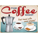 THE COFFEE SHOP METAL SIGN - The Metal Sign Store