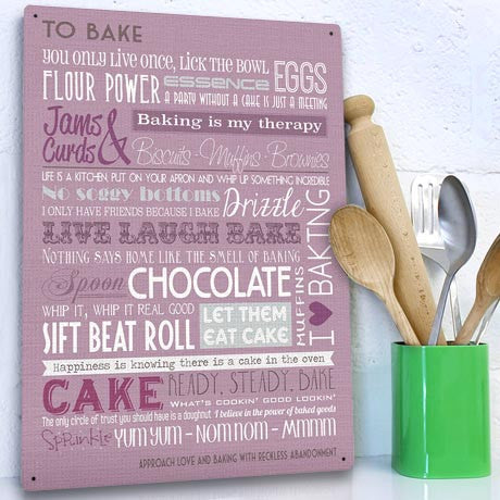 Baking Motivational Metal Sign - The Metal Sign Store