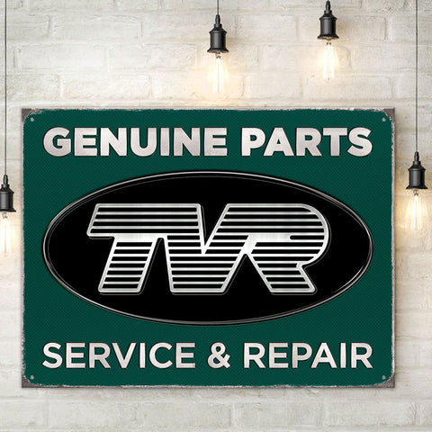 TVR Metal Sign - TVR Genuine Parts Service & Repair - The Metal Sign Store
