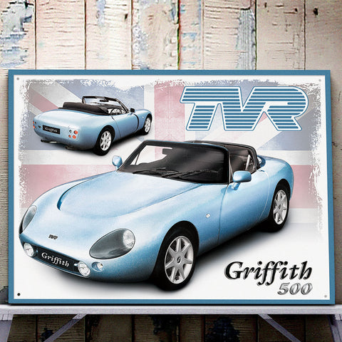 TVR Metal Sign - TVR Griffith 500 - The Metal Sign Store