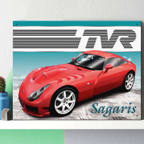 TVR Metal Sign - TVR Sagaris - The Metal Sign Store