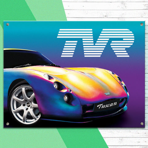 TVR Metal Sign - TVR Tuscan - The Metal Sign Store