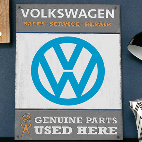 VW Metal Sign - Volkswagen Genuine Parts Garage - The Metal Sign Store