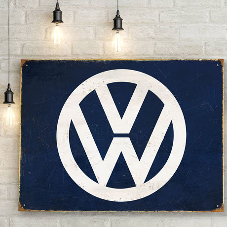 VW Metal Sign - Logo - The Metal Sign Store