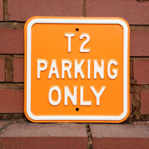 VW Metal Sign - VW T2 Parking Only Square - The Metal Sign Store