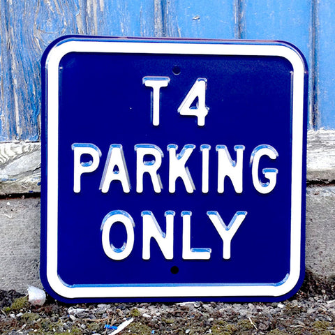 VW Metal Sign - VW T4 Parking Only Square - The Metal Sign Store