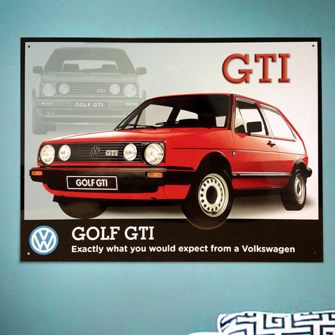 VW Metal Sign - Volkswagen Golf GTI - The Metal Sign Store