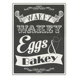 Wakey Wakey Eggs and Bakey Kitchen Metal Sign - The Metal Sign Store
