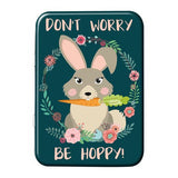 Don't Worry Be Hoppy Metal Tin - The Metal Sign Store