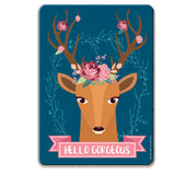 Hello Gorgeous Coaster - The Metal Sign Store