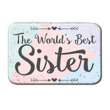 The World's Best Sister Metal Tin - The Metal Sign Store