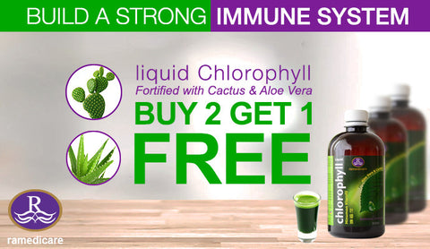 Buy liquid chlorophyll two bottles and get one free offer