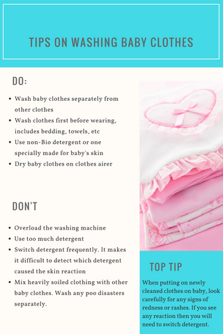Tips on washing new baby clothes