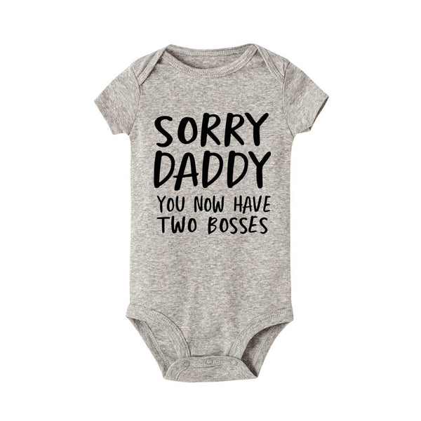'Sorry Daddy' New Baby Bodysuit | Short Sleeve Bodysuits