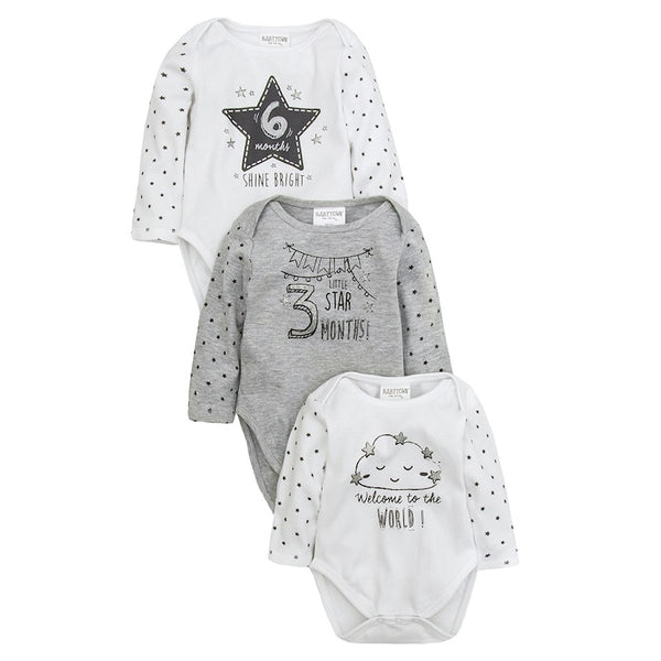 Unisex Milestone Bodysuits - 3 sizes