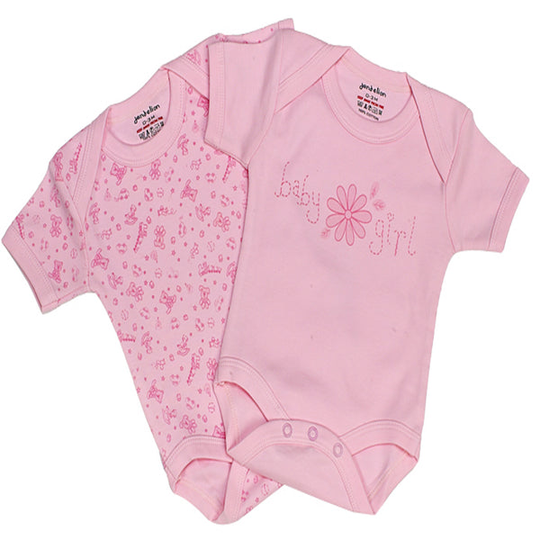Baby Girl Bodysuits | Short Sleeve Bodysuits | Set of 2