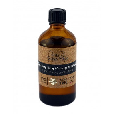 Deep sleep baby massage and bath oil by the soap shop