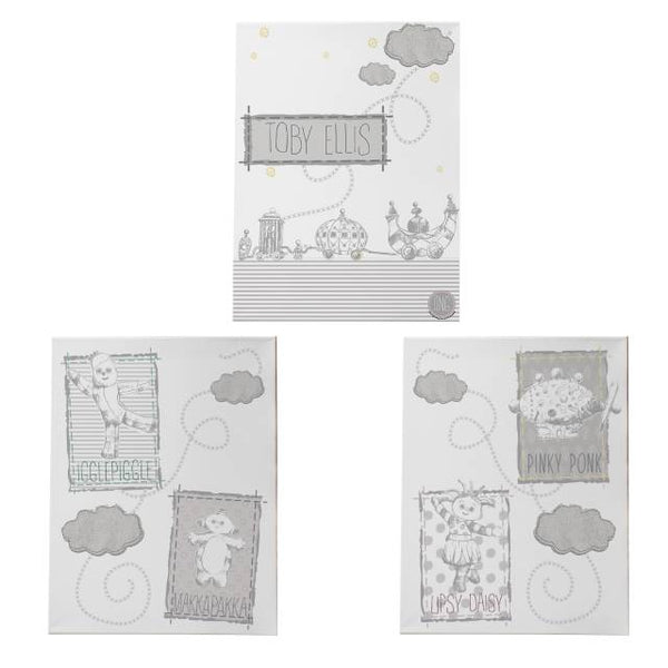 In the Night Garden Canvas |  Personalised Canvas Set of 3