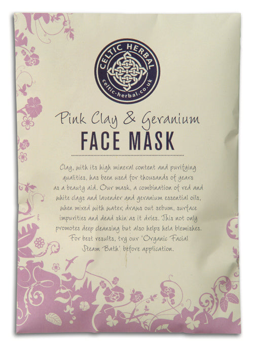 Deep Cleansing Pink Clay Face Mask Celtic Herbal