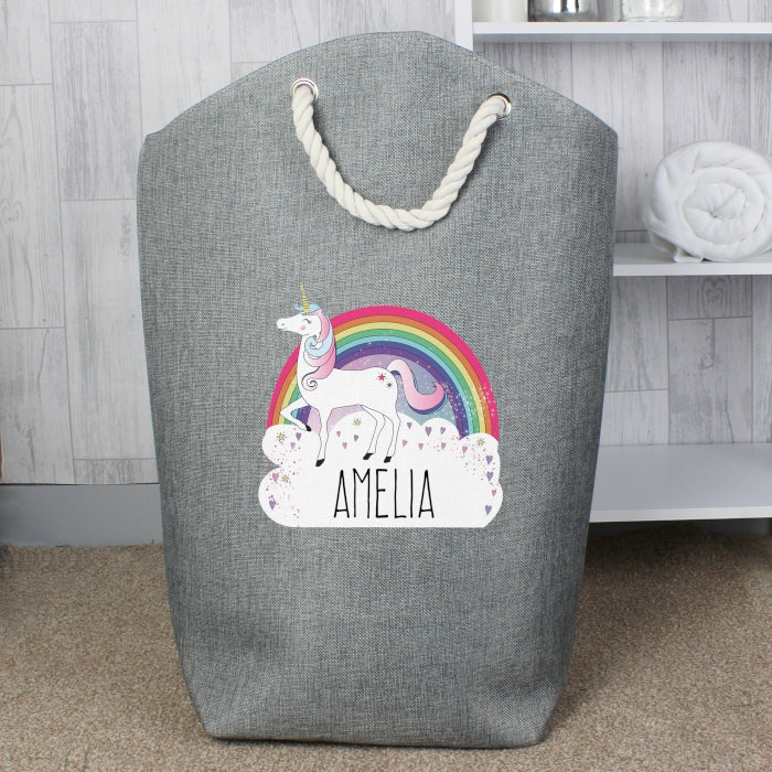 storage bag, unicorn theme, unicorn storage bag, storage for toys, personalised laundry bag, personalised gift,
