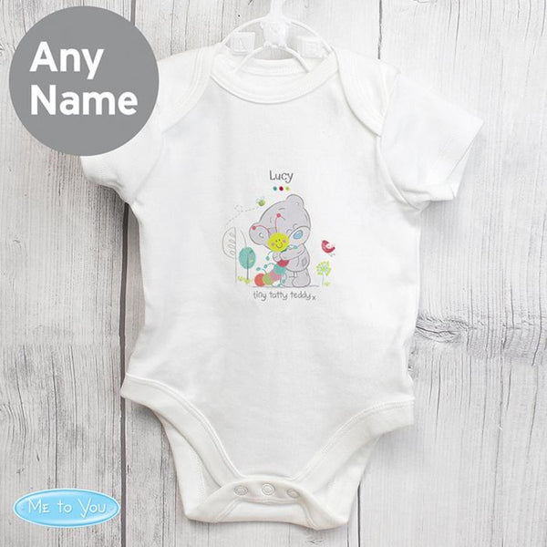 personalised unisex bodysuit, baby girl bodysuit, tiny tatty teddy bodysuit, personalised tiny tatty teddy bodysuit