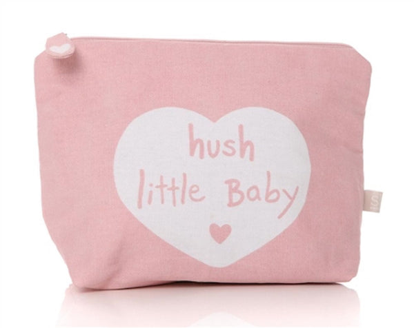 Hush Little Baby Cotton Washbag - Pink