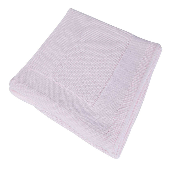 New Baby Receiving Shawl Swaddling Wrap - Pink