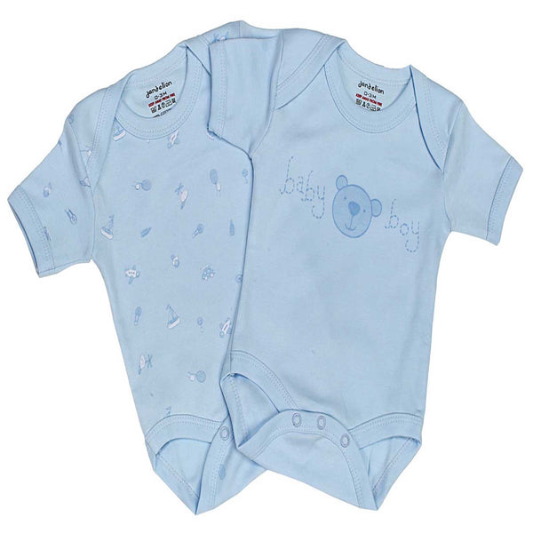 Blue baby boy bodysuits
