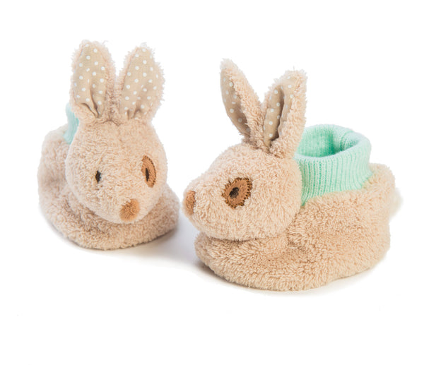 Alfie Rabbit booties, Ragtales, bunny booties, rabbit baby booties,  newborn booties