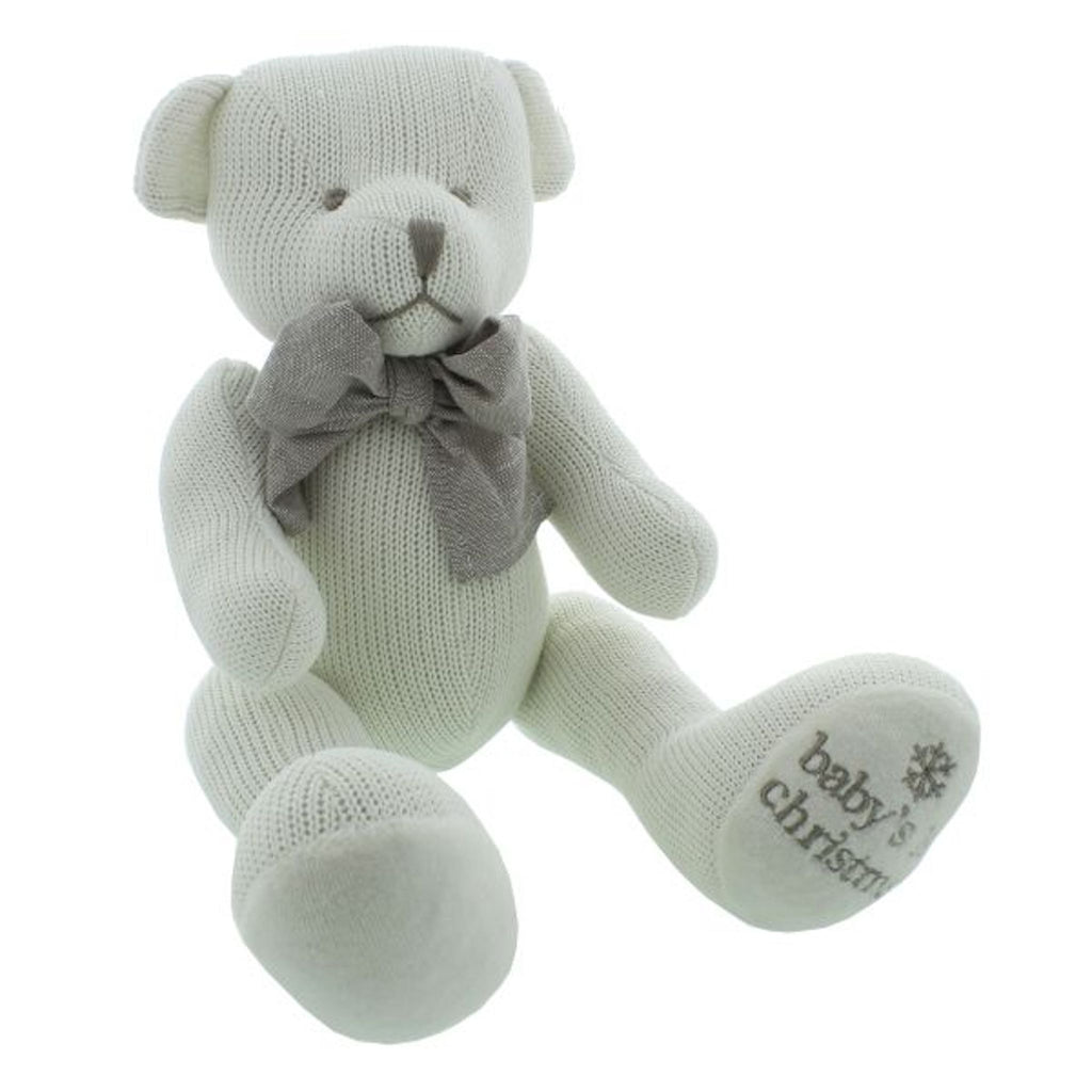 Baby's 1st Christmas Knitted Cotton Bear
