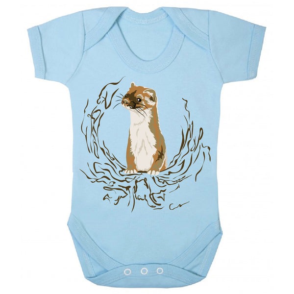 baby boy clothing, new baby boy, blue baby grow, plastisol ink baby grow, baby boy bodysuit, stoat design, z-o-e