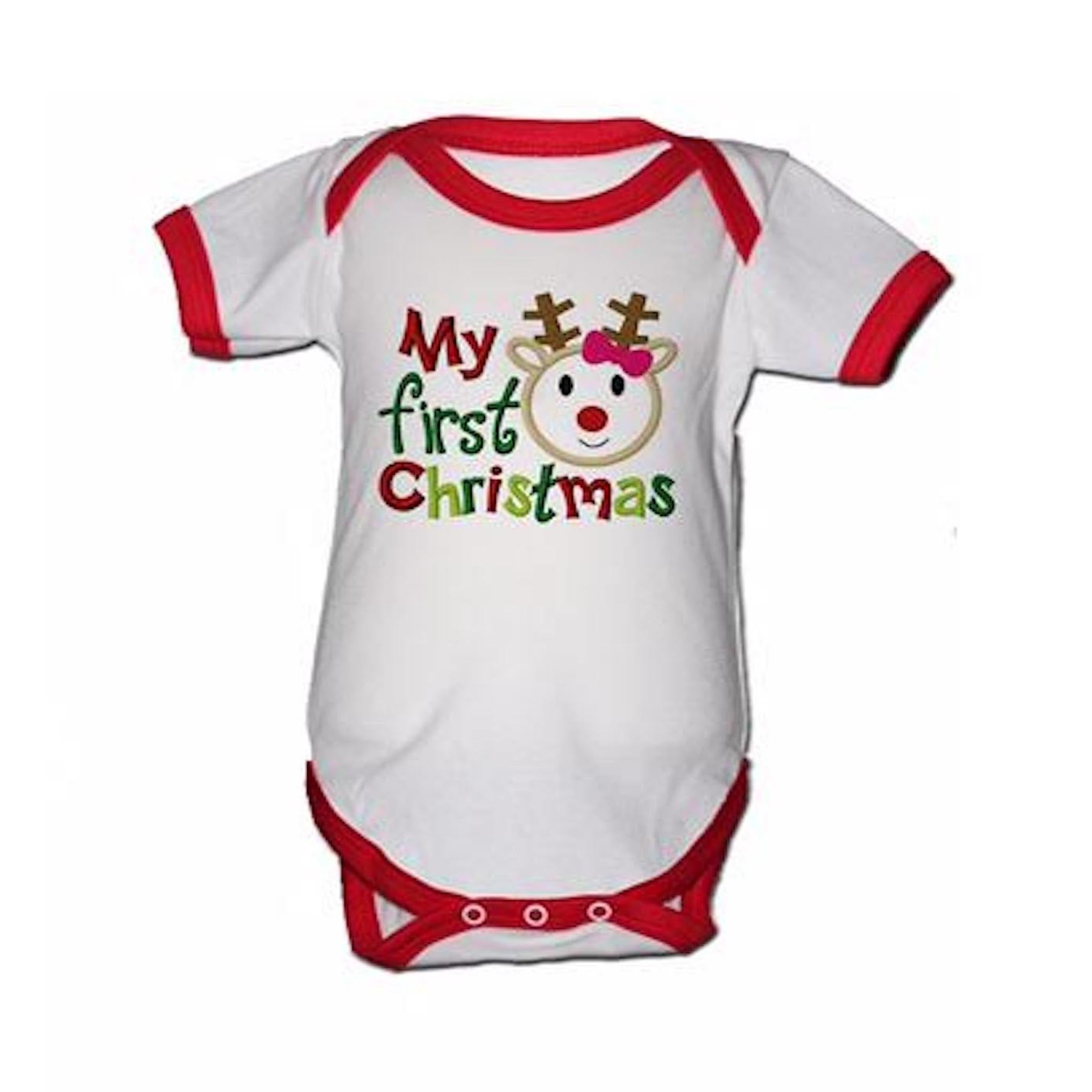 7a5f6d047 ... baby 1st Christmas, unisex baby Christmas bodysuit, my first Christmas  bodysuit ...